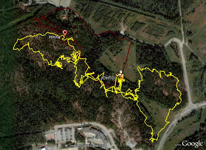 Hälytreeni 27.1.2009 GPS-jäljet
