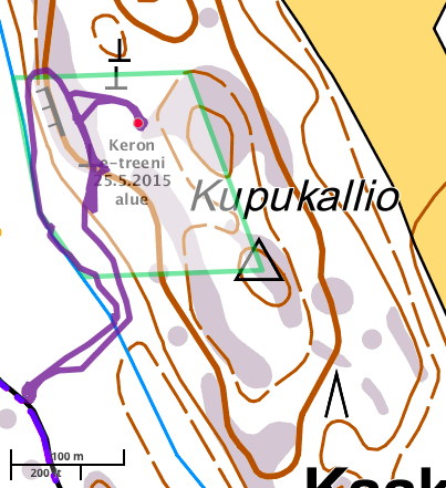 25.5.2015 Keron e-treenialue + reitti ja löytö